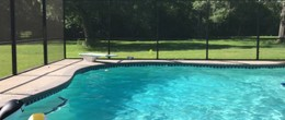Screened Private Pool and party room