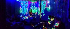 hot and huge party venue with crazy disco lights in the heart of brooklyn
