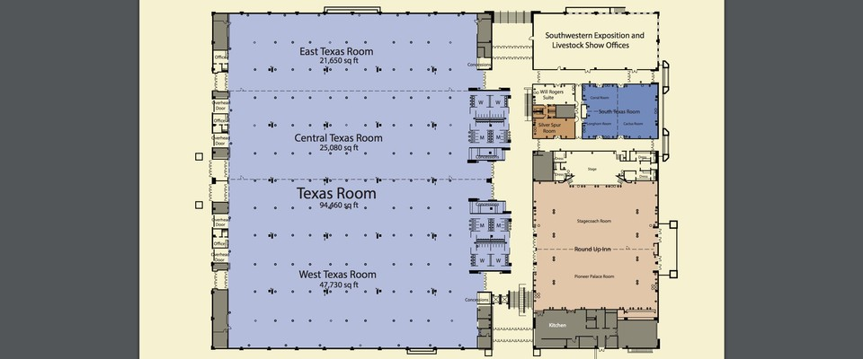 West Texas   Convention Center Venue for Rent in Fort Worth